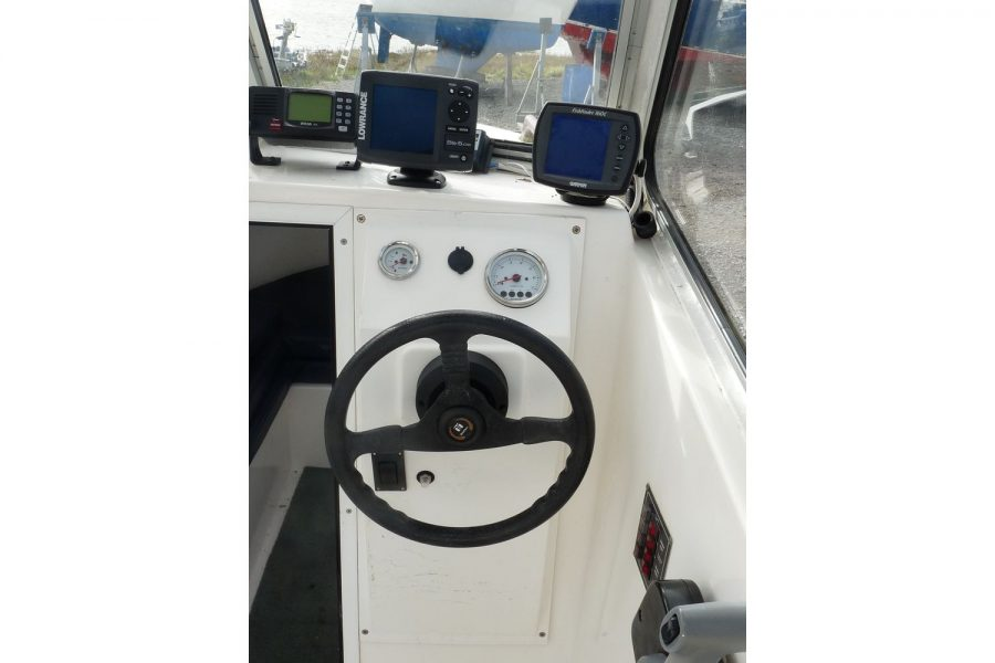 Blackwater Motor Yachts Kingfisher 18 - engine controls