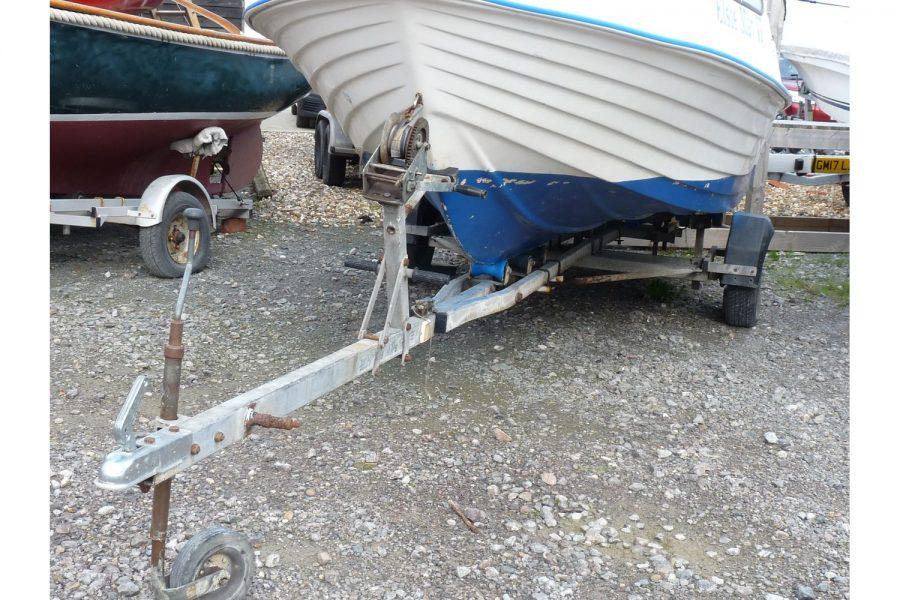 Delmar 16 fishing boat - trailer
