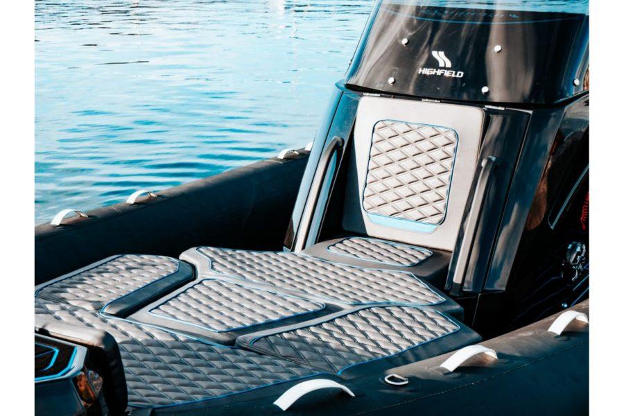 Highfield SP 700 aluminium RIB - seating