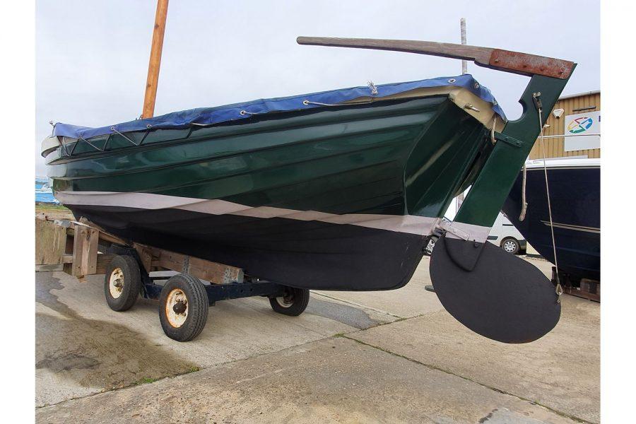 Character 18 coastal sailing yacht - port side aft and rudder