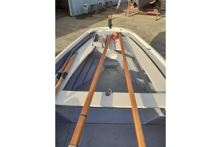 Character 18 coastal sailing yacht - overhead view towards aft
