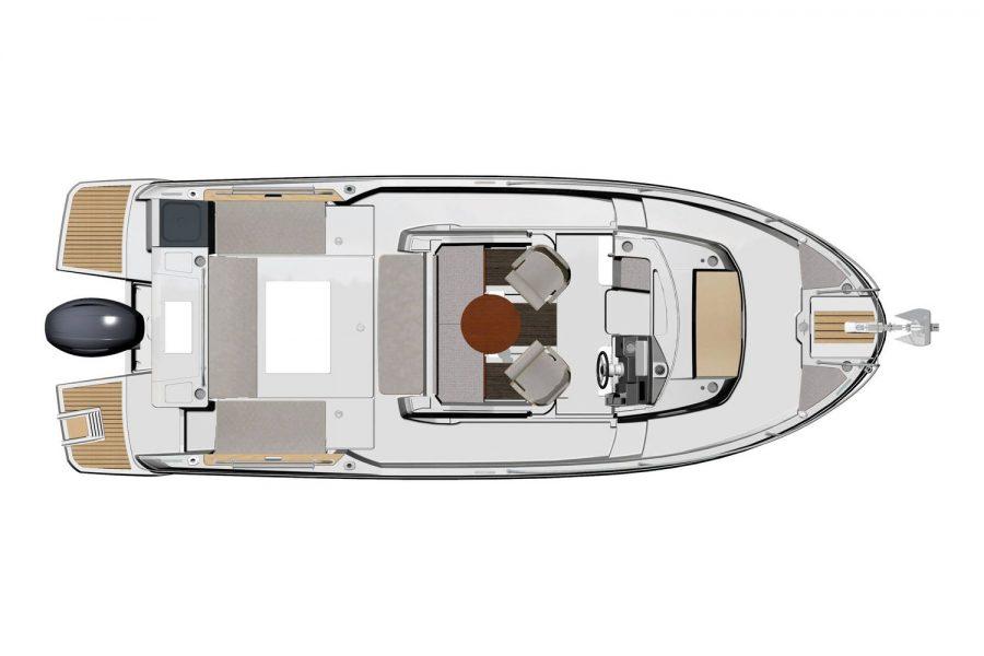 Jeanneau Merry Fisher 795 Marlin - wheelhouse diagram