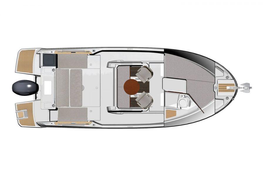 Jeanneau Merry Fisher 795 Marlin - cabin diagram