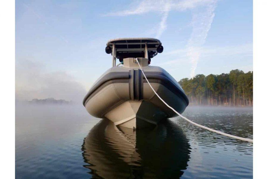 Highfield PA 540 aluminium RIB - bow and keel