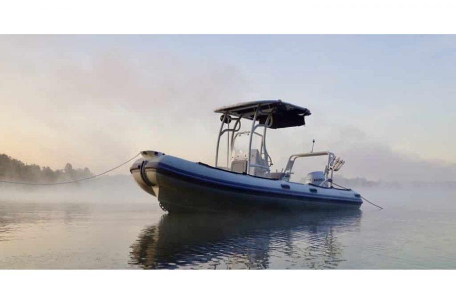 Highfield PA 540 aluminium RIB - on the water