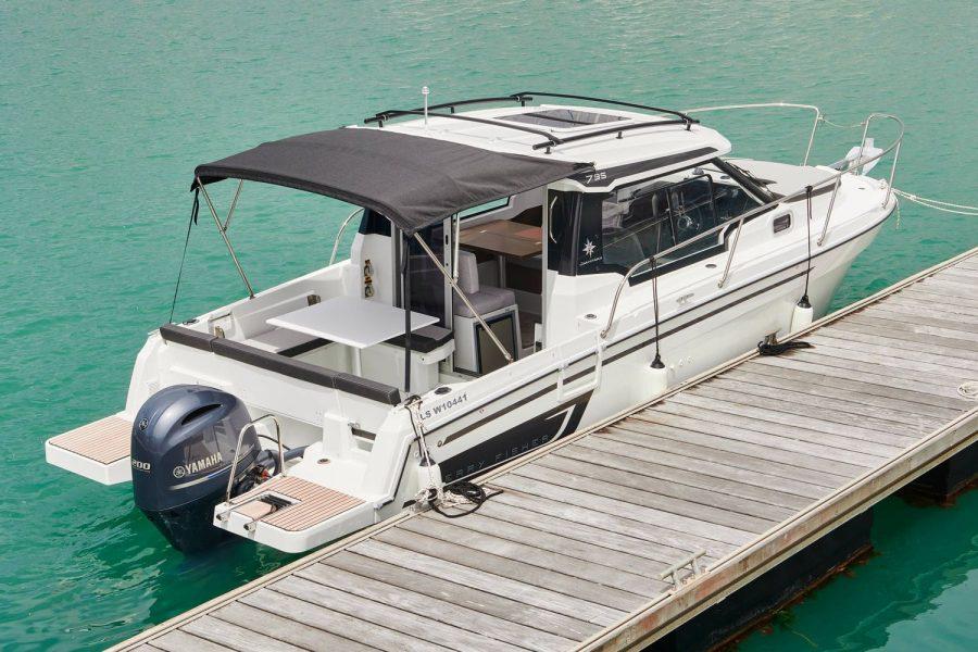 Jeanneau Merry Fisher 795 - Legend - moored along pontoon