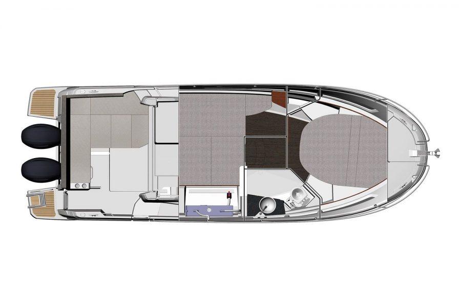 Jeanneau Merry Fisher 895 - Offshore - diagram of below deck