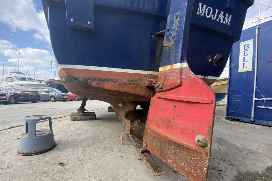 Maritime 21 fishing boat - rudder