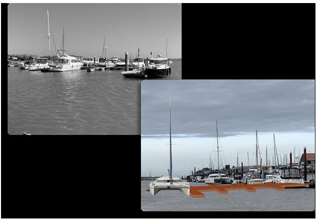 Photos of moorings at Morgan Marine and planned improvements