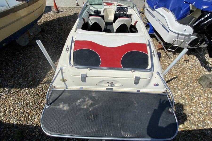 Fletcher Arrowstreak 17 GTS sportsboat - large bathing platform