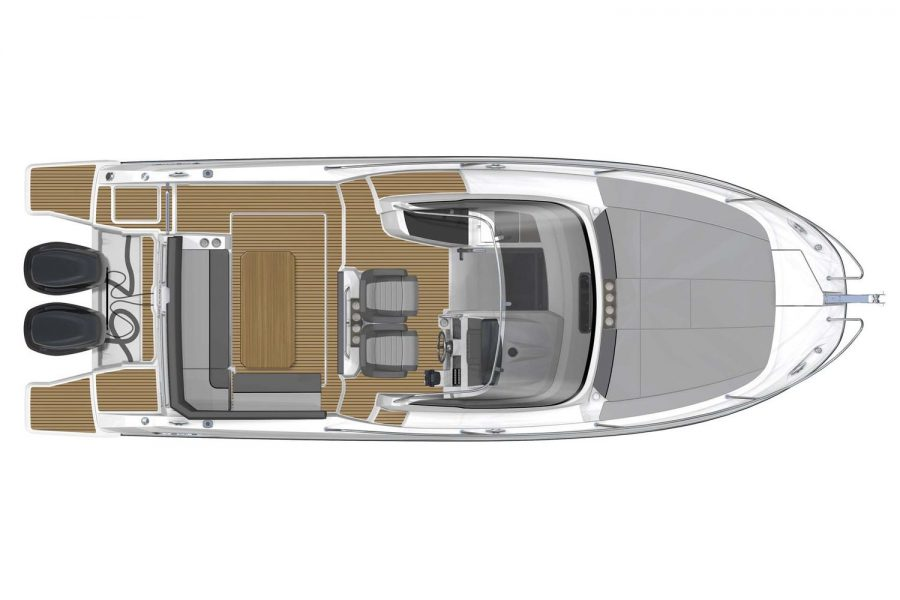 Jeanneau Cap Camarat 9.0 WA (sports boat / cruiser) - diagram of cockpit