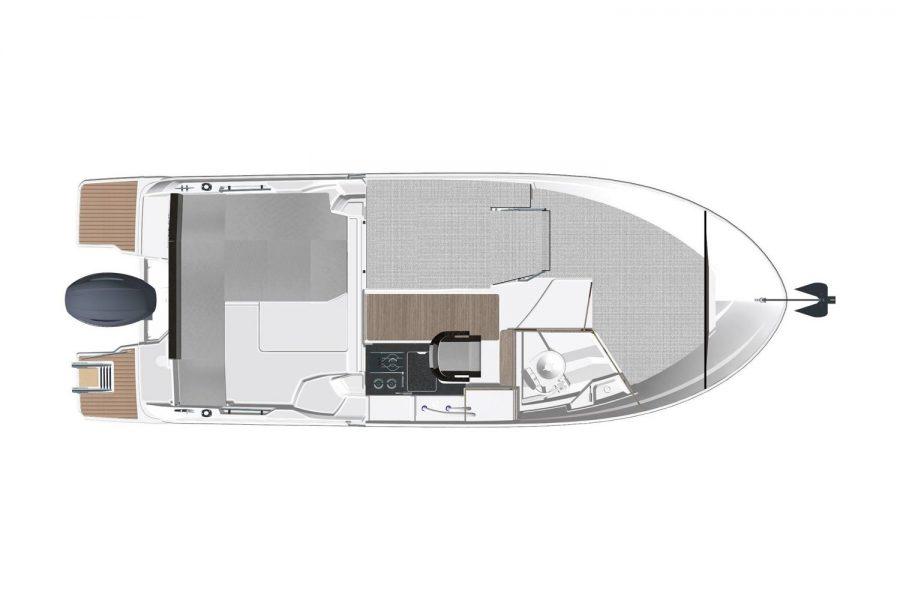 Jeanneau Merry Fisher 695 - overhead interior diagram