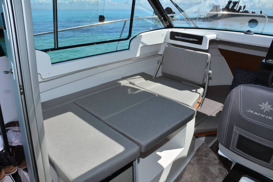 Jeanneau Merry Fisher 695 - saloon seating converts to berth