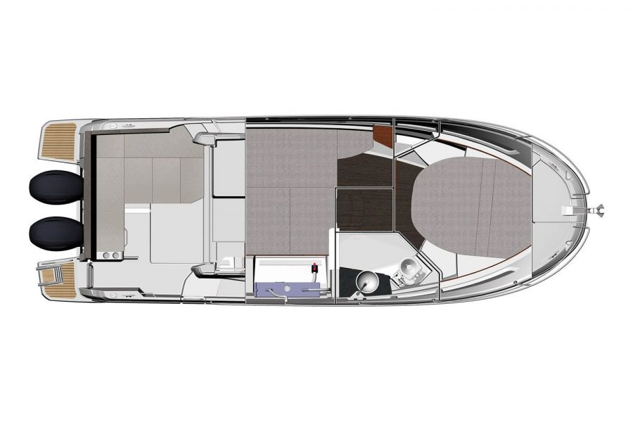 Jeanneau Merry Fisher 895 - diagram of cabin layout