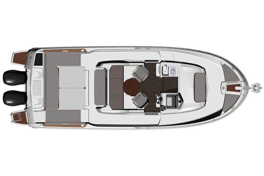 Jeanneau Merry Fisher 895 Offshore - diagram of overhead view