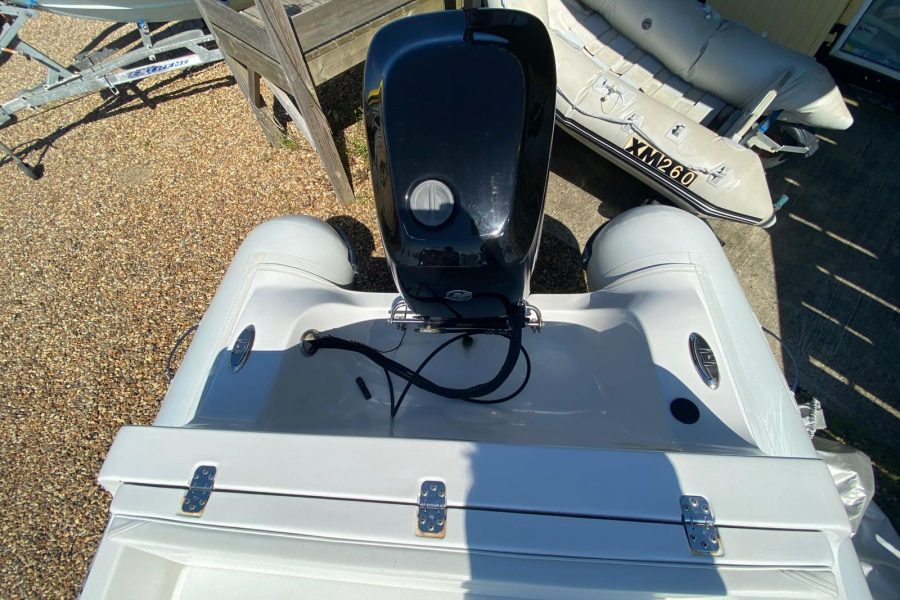 AB Inflatables - Nautilus 15 DLX RIB - view from cockpit to aft