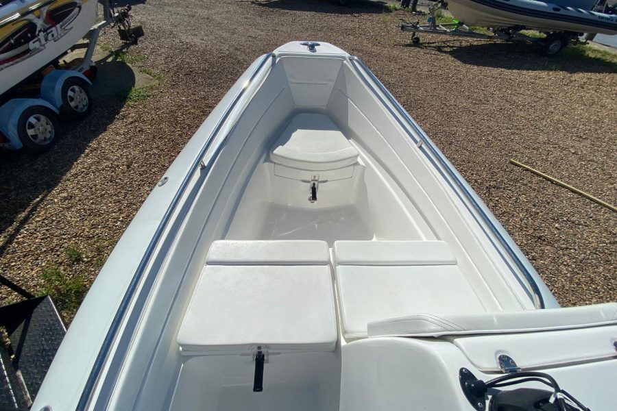 AB Inflatables - Nautilus 15 DLX RIB - view from helm seat to bow
