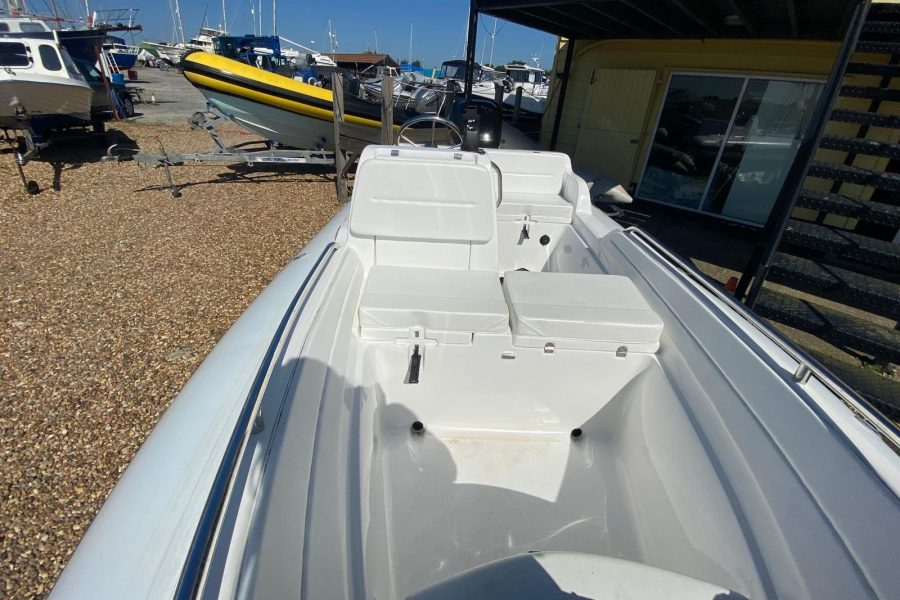 AB Inflatables - Nautilus 15 DLX RIB - view from bow to aft