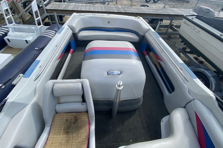 MasterCraft ProStar 190 ski boat - view from helm position to aft cockpit